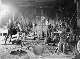 Wagon making or repair shop