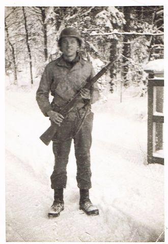 Elmer A. Parton at Battle of the Bulge