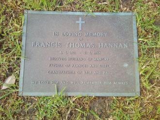 Francis Thomas Hannan gravesite
