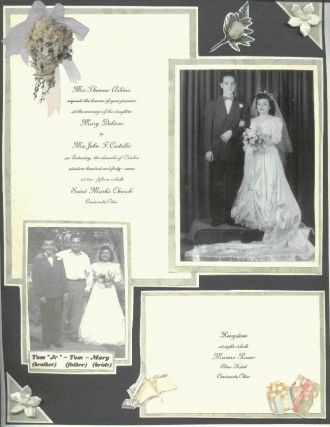 John & Mary Costello Wedding Day ~ Oct 1947