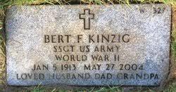 Bert F Kinzig Gravesite