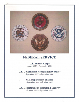 Military & Federal Service (1975-2016)