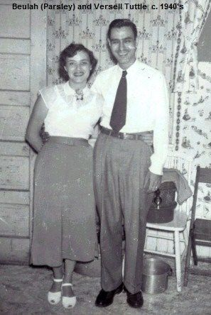 Beulah (Parsley) and Versell Tuttle