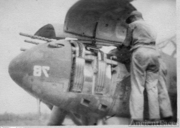 Armorer Working On A P-38