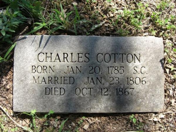 Charles Cotton Gravesite