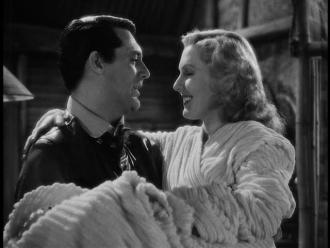 Jean Arthur and Cary Grant