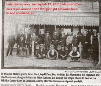 Wyatt Earp, Doc Holliday and others in coronado, ks