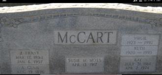 James Ray Mccart gravesite
