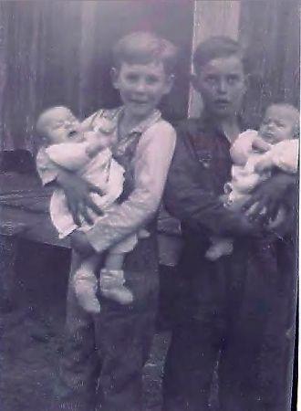 Dalton & James holding twin boys
