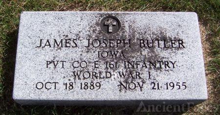 Pvt. James Joseph Butler gravesite