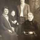 Eliza Ellen great grandma with first great grandchild