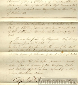 Inventory of Private Alden P. Flanders