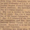 Mary Eula King(Walker) Obituary