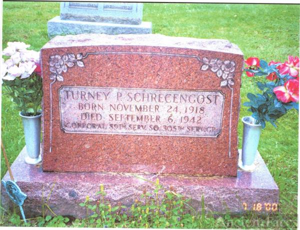 Turney P. Schrecengost gravesite