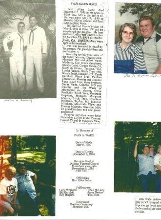 Ivan Wade Obituary, 1995
