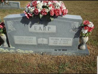 Velma Juanita (Gann) Earp Grave Stones