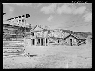 Bannack, Montana. Formerly a booming gold camp, now a...