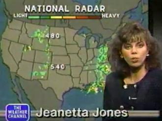 Jeanetta Jones on The Weather Channel (1989)