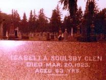 Isabella Glens Headstone