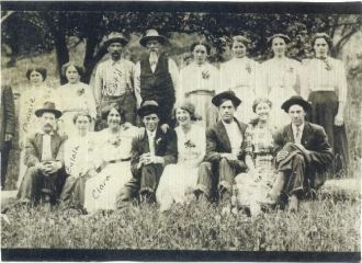 ephraim with some of his children and others