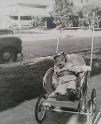 Peter Olds in his Modern stroller