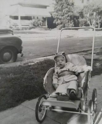 Peter Olds in his Modern stroller