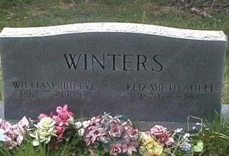William (Billy) Winters  Elizabeth Shell Gravesite