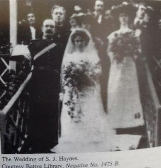 Samuel Johnson Haynes Mlc wedding