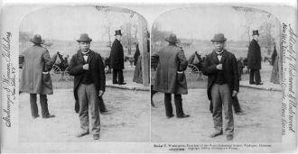 [Booker Taliaferro Washington, 1859?-1915, full length,...