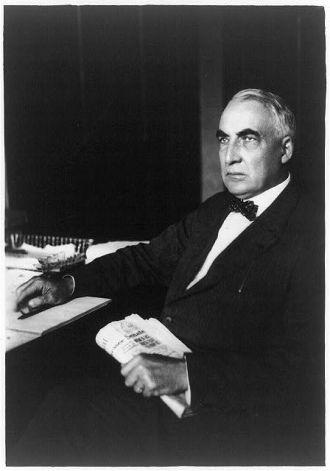 [Warren G. Harding, three-quarter length portrait, seated...