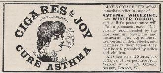 Cigares de Joy - Cure Asthma
