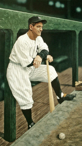A photo of Lou Gehrig