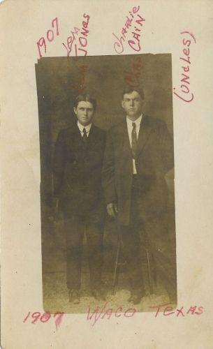 Lem JONES and Charlie CAIN 1907