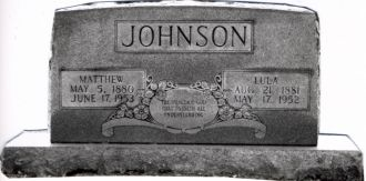 Matthew and Lula Johnson gravesite