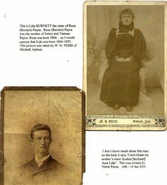 Aunt Lida BURNETT & her husband Grant ....