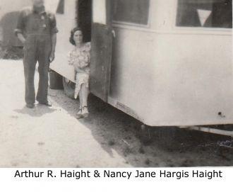 Arthur R.  & Nancy Jane (Hargis) Haight