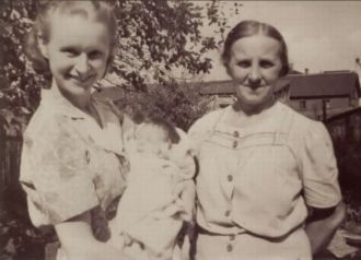My mother, me and my grandmother