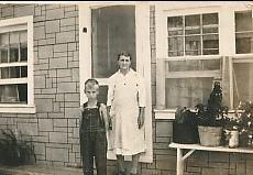 Dad and great grandma Ella