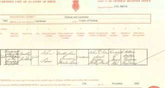 Dorothy Esther Sims Birth Certificate