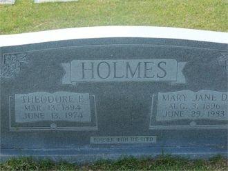 Theodore Ford Holmes & Mary Jane Dunaway Holmes
