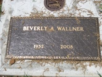 Beverly A Wallner Grave Marker