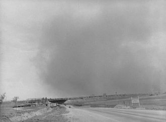 Texas Dust storm, 1939