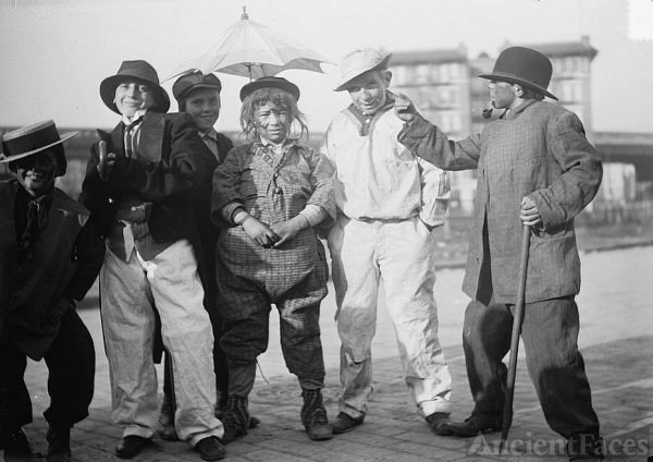 Thanksgiving Maskers circa 1910