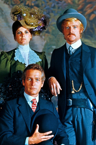 Paul Newma, Katharine Ross, Robert Redford.