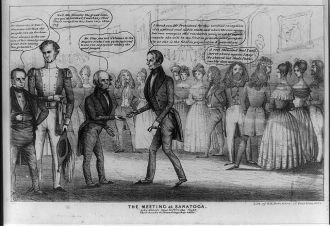 The meeting at Saratoga