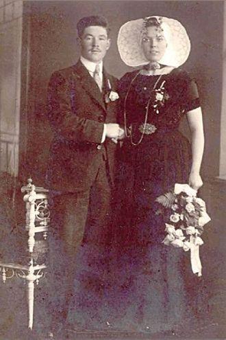 Marriage Jan Akerboom and WIlhelmina Daane