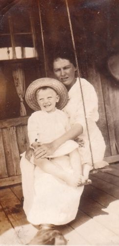 Beulah LANCASTER Whitfield and son, Richard