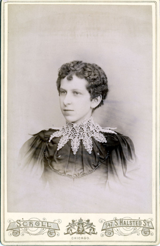 Chicago Woman with Fancy Lace Collar