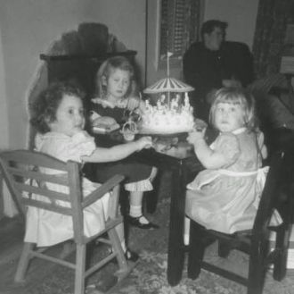 1954 Birthday Party on Bird Ave in San Jose CA