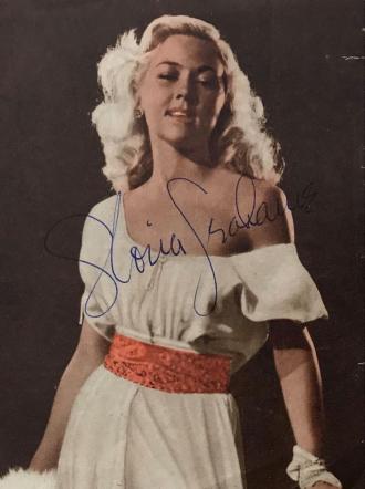 Gloria Grahame autograph